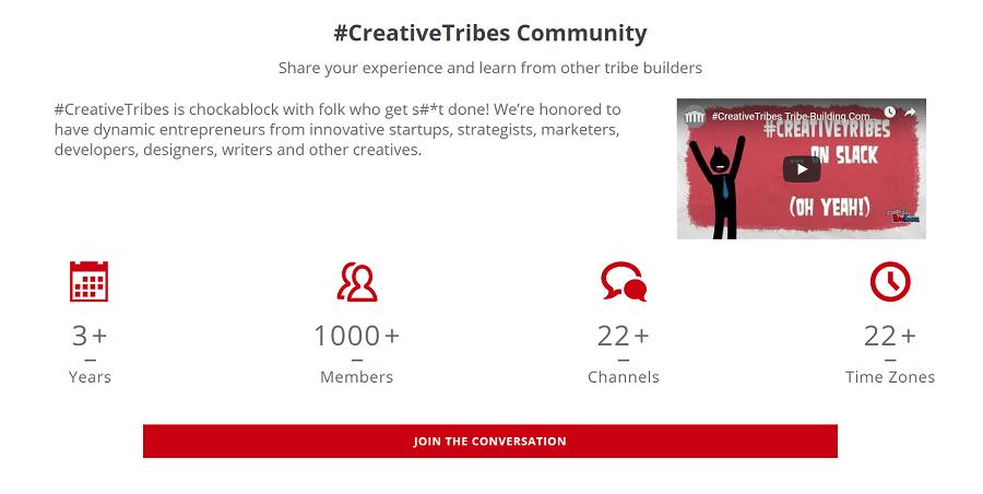 creative tribes slack