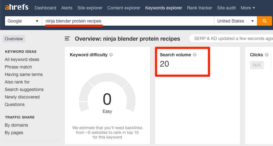 keywords explorer 3 ninja blender protein recipes