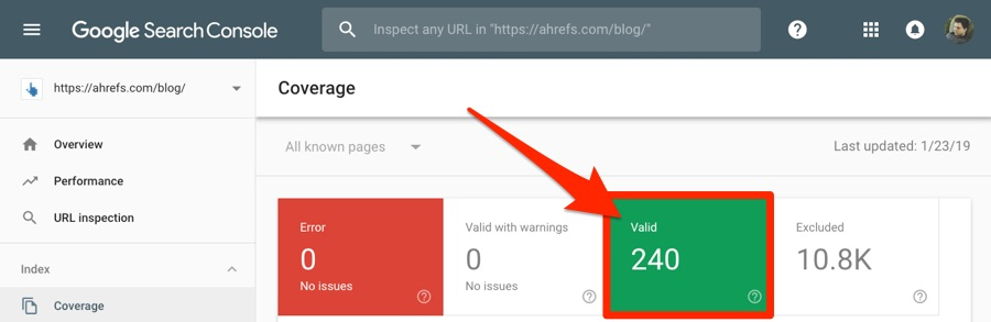 search console coverage 1