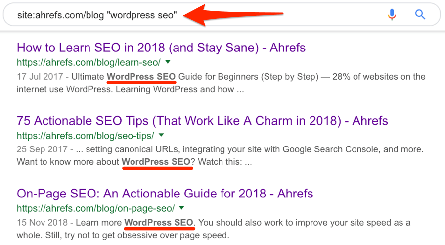 wordpress seo mentions