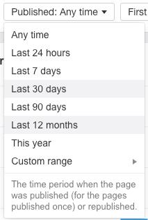calendar filter content explorer