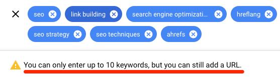 planificateur de mots clés google dix mots clés