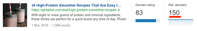 protein recipes with backlinks