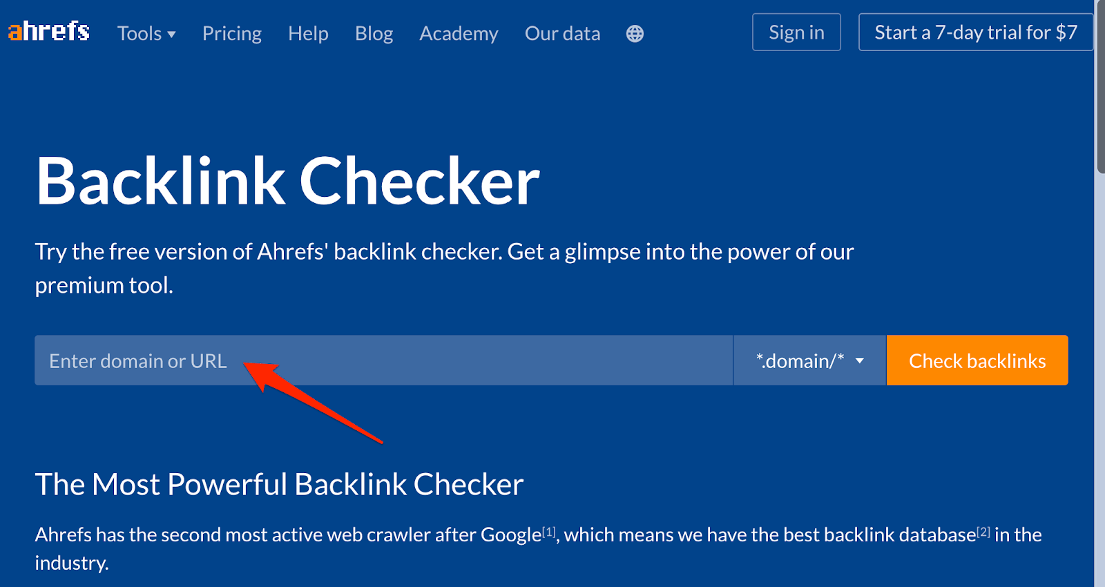 Free Backlink Checker by Ahrefs Check Backlinks for Any Website