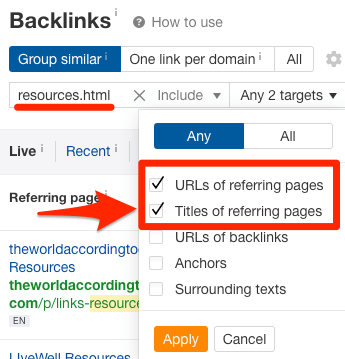 backlinks include resources