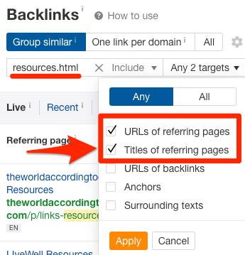les backlinks