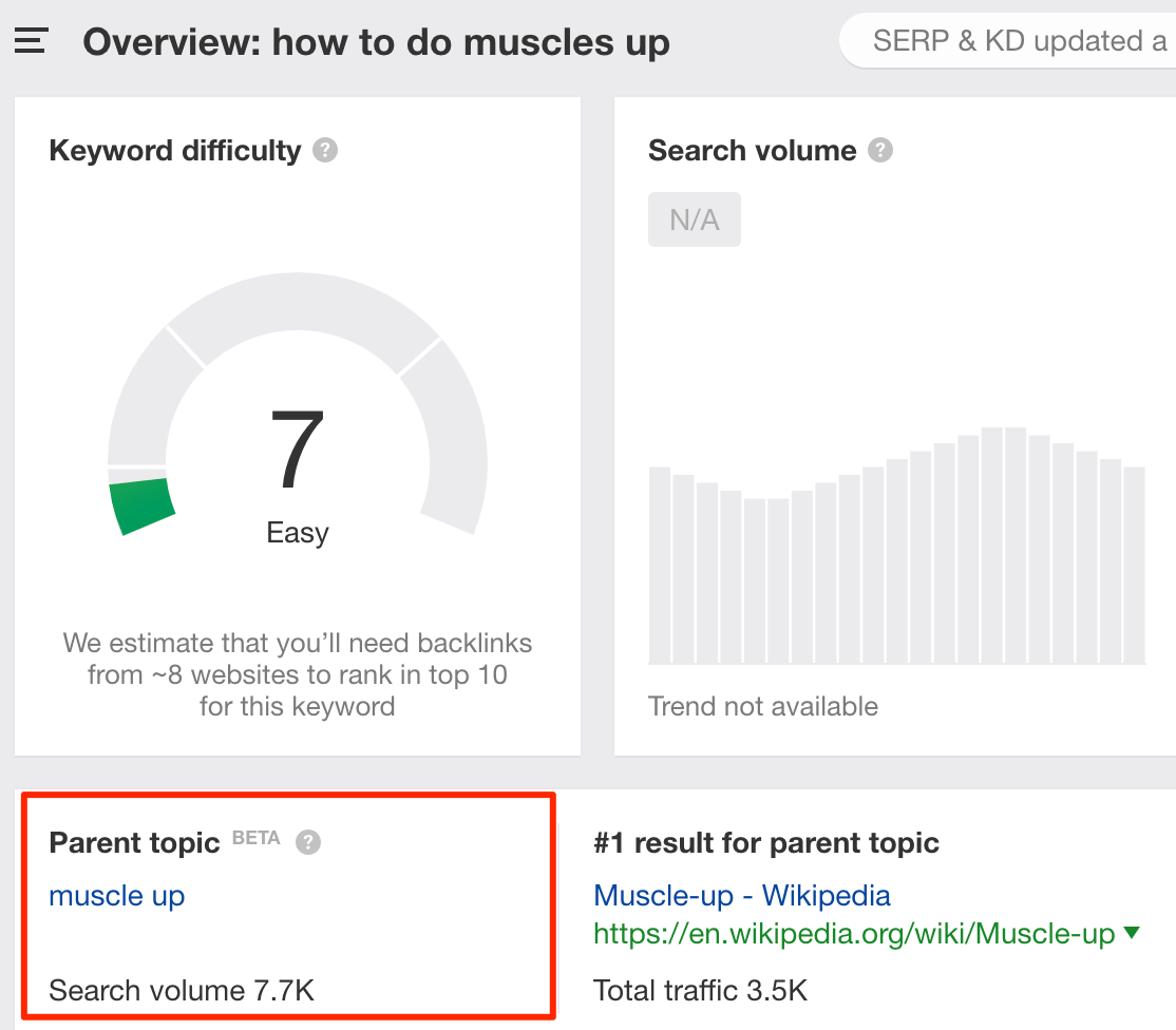 keywords explorer muscle ups