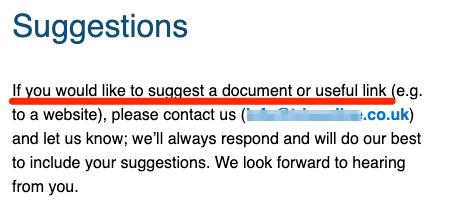 ressources e-mail de suggestion