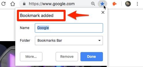 google bookmark