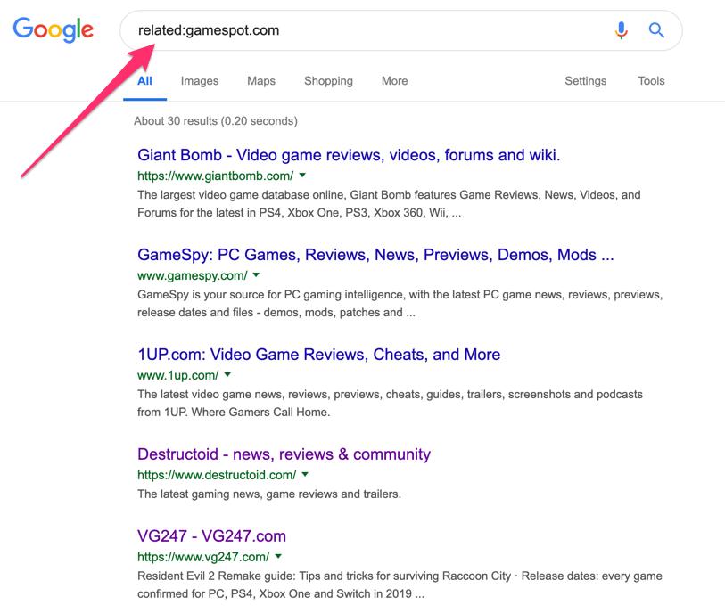 recherche liée à google
