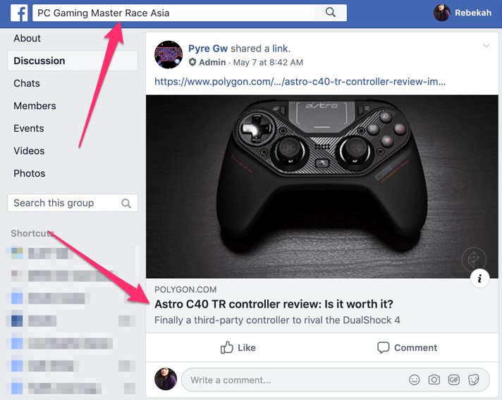 groupe facebook de jeux pc