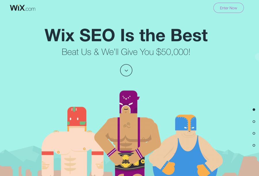 wix seo competition