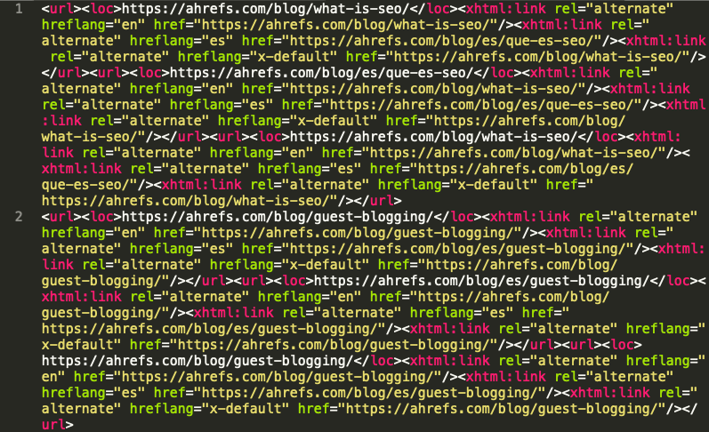 sơ đồ trang web xml