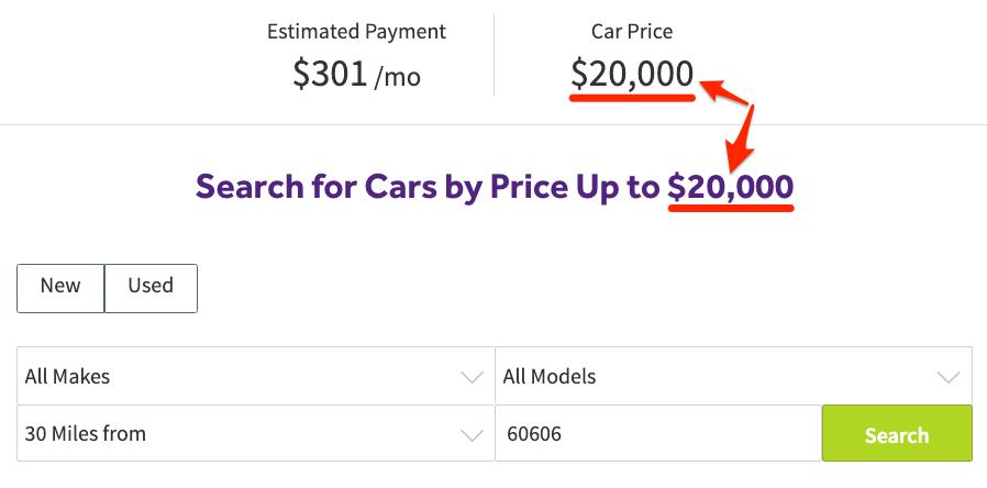 car calculator search