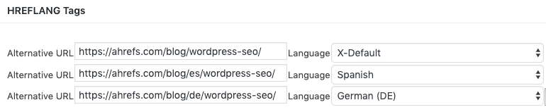 hreflang tags wordpress seo