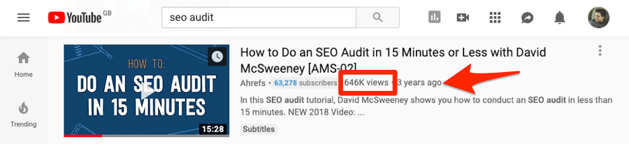 seo audit views