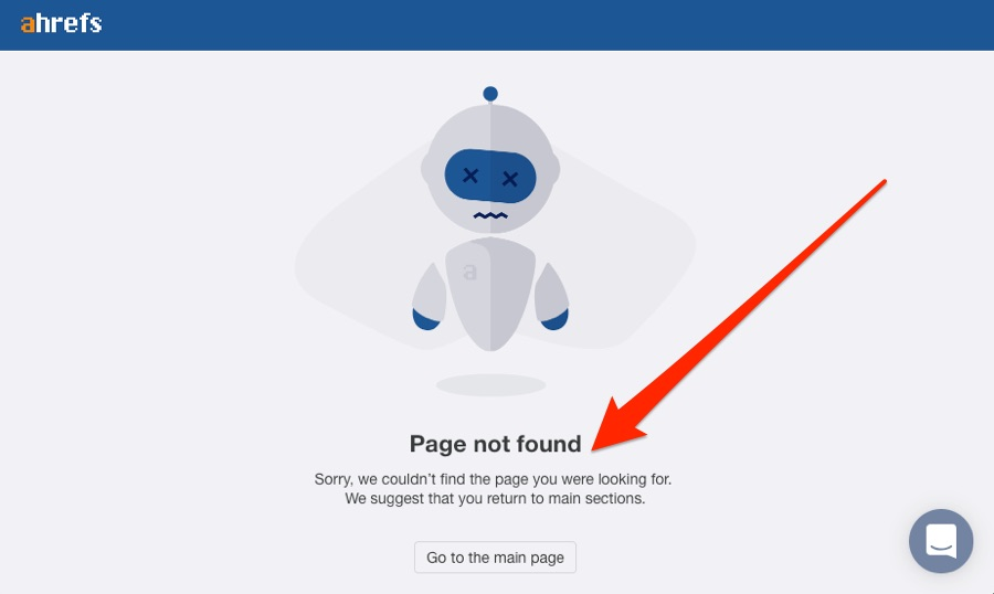 ahrefs page not found