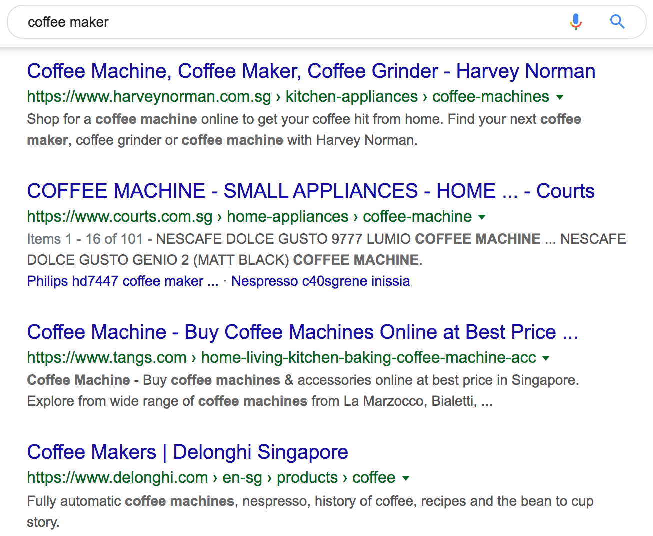 coffee maker google search