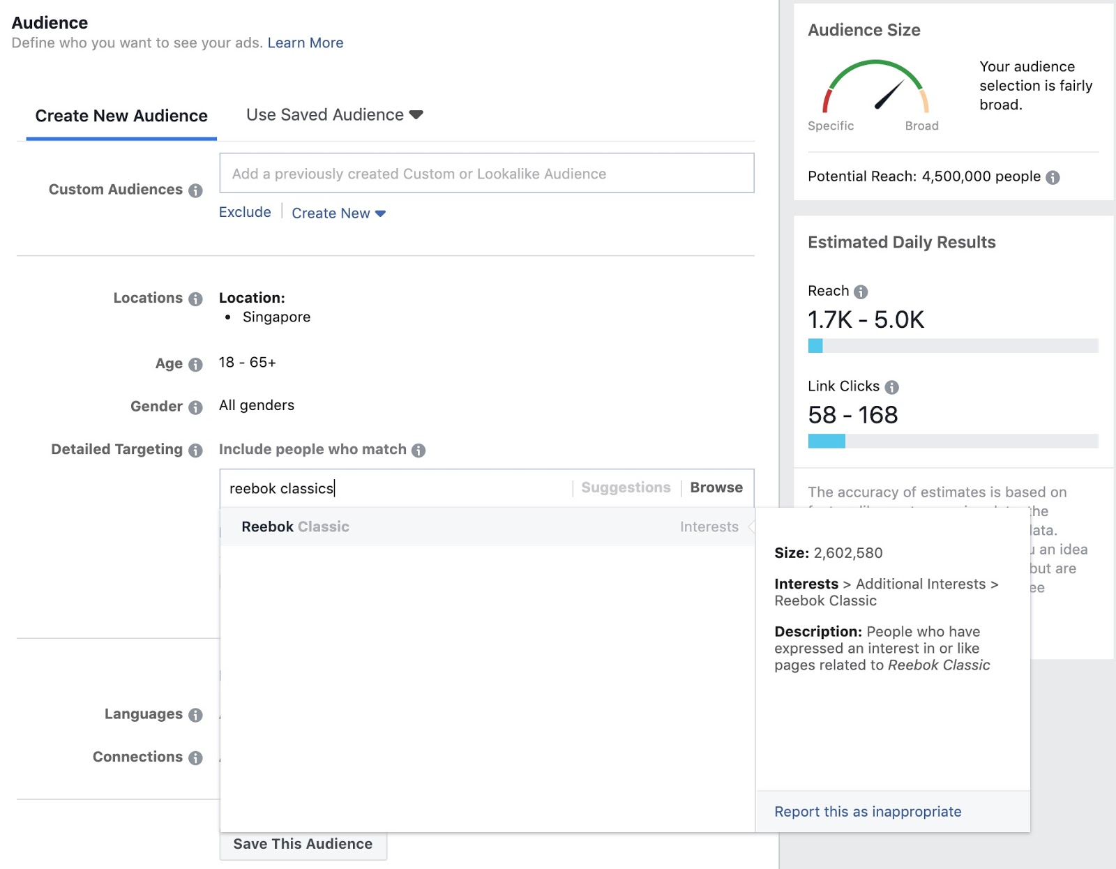 facebook ads manager