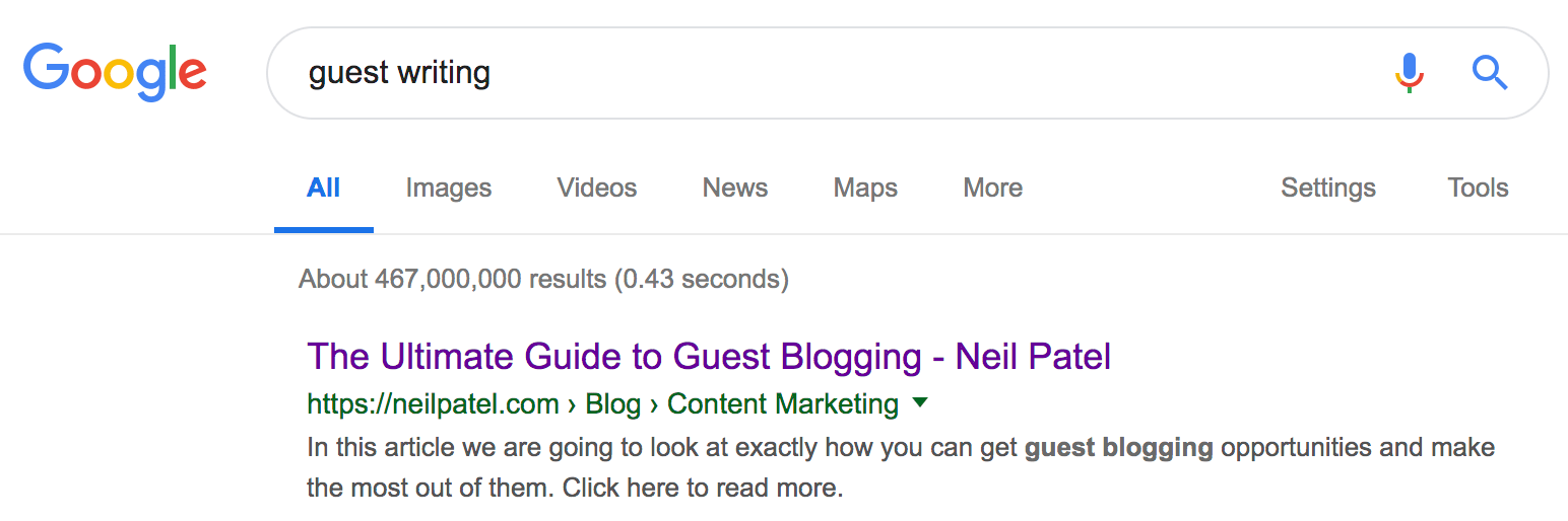 guest writing Google Search