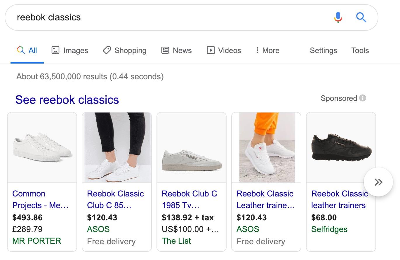 reebok classics Google Search