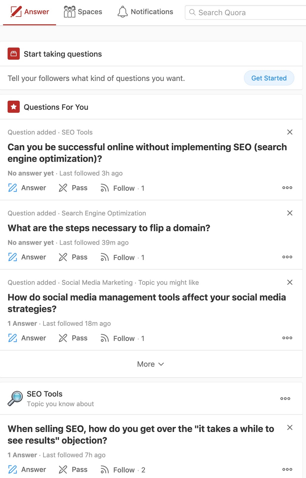 Write Answers Quora