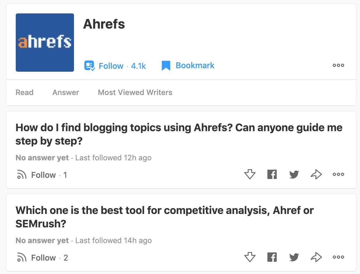 ahrefs questions quora