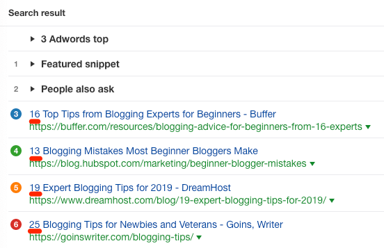 blogging tips serp