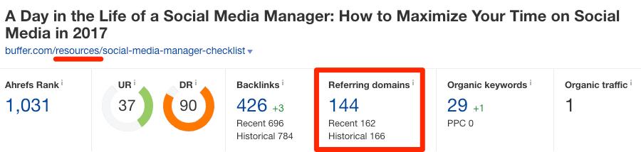 buffer url 2 referring domains