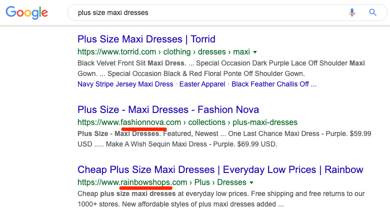 plus size maxi dresses serp
