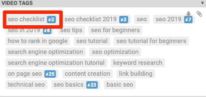 seo checklist tags