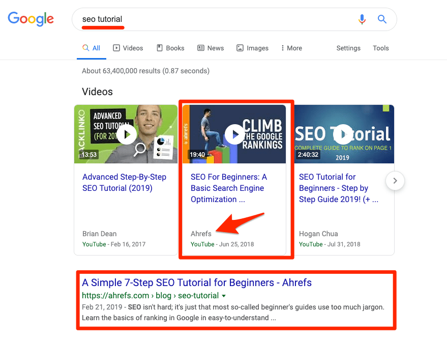 seo tutorial serp domination