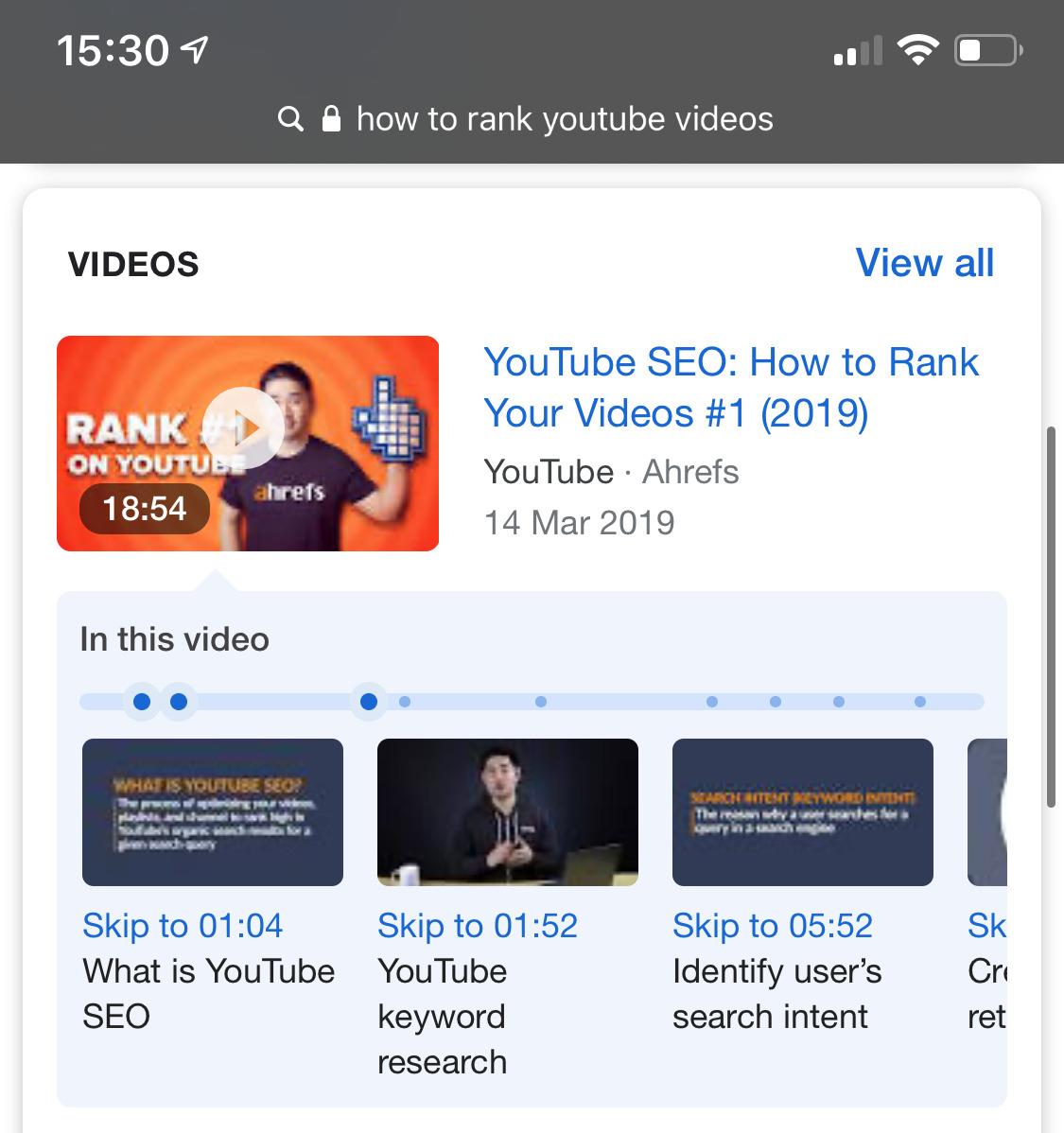 "comment classer les horodatages des vidéos youtube 1 ""srcset ="" https://ahrefs.com/blog/wp-content/uploads/2019/12/how-to-rank-youtube-videos-timestamps-1.jpg 1125w, https : //ahrefs.com/blog/wp-content/uploads/2019/12/how-to-rank-youtube-videos-timestamps-1-399x425.jpg 399w, https://ahrefs.com/blog/wp- content /uploads/2019/12/how-to-rank-youtube-videos-timestamps-1-768x818.jpg 768w ""tailles ="" (largeur max: 1125px) 100vw, 1125px"