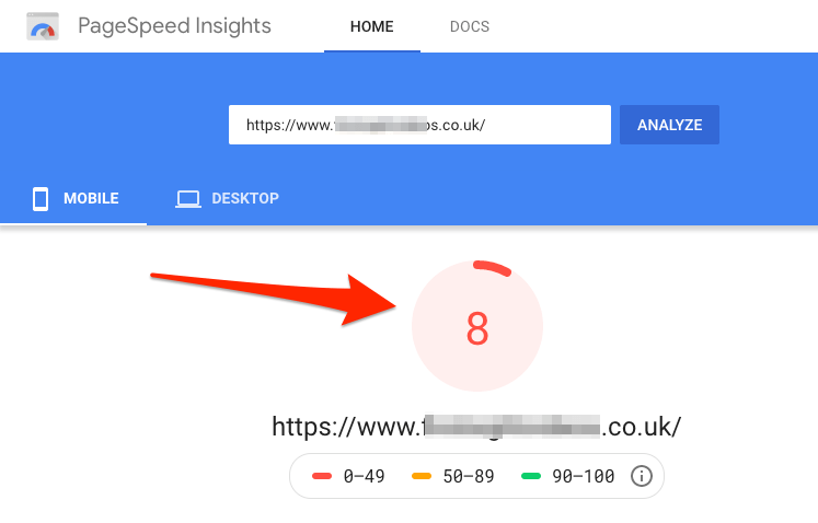 pagespeed slow