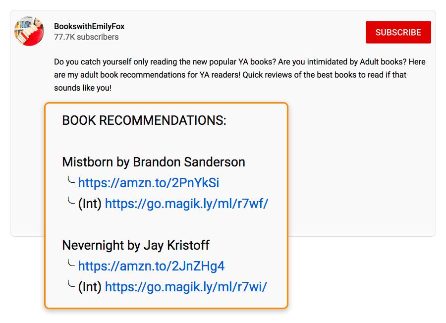 4 recommandations de livres lien d'affiliation 2