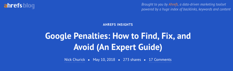 google penalties ahrefs
