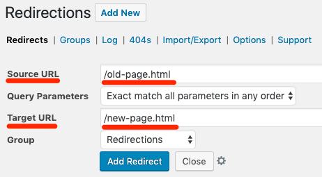 redirections plugin