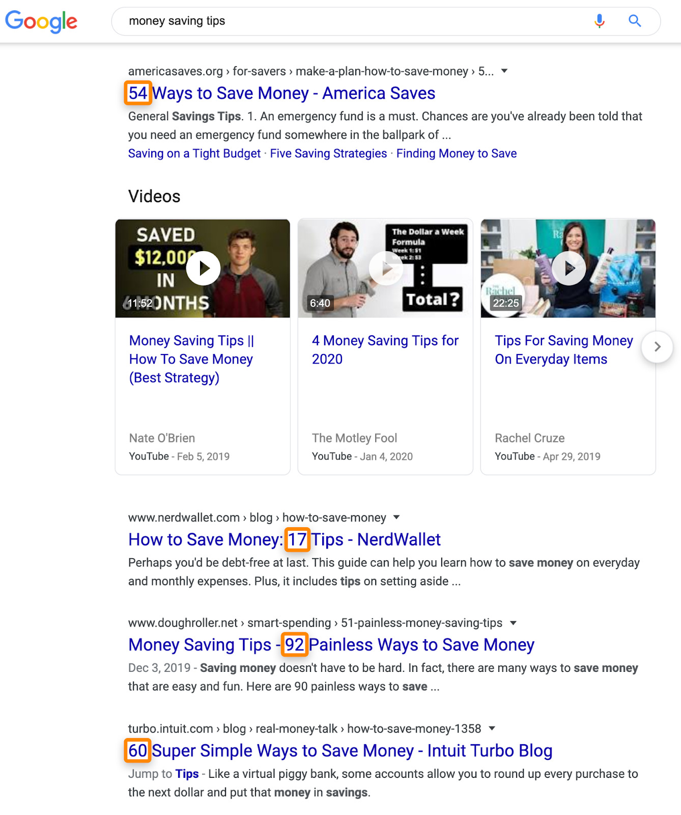 12 serp money saving tips