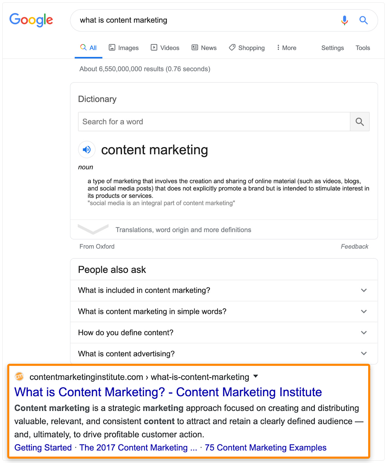 22 serp what is content marketing