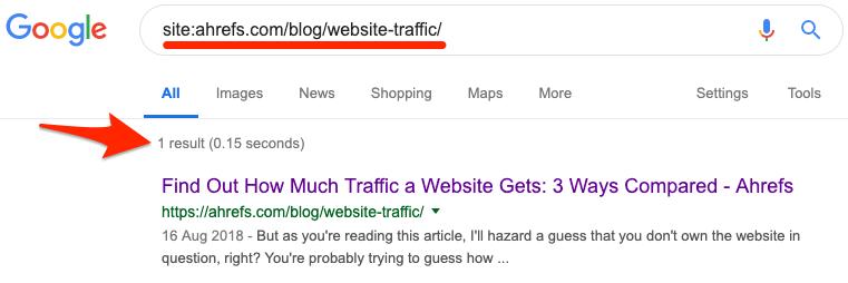 google site search web page