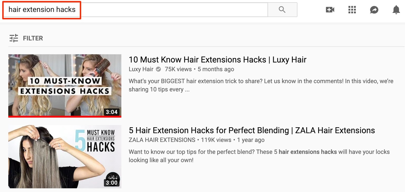 hair extension hacks YouTube