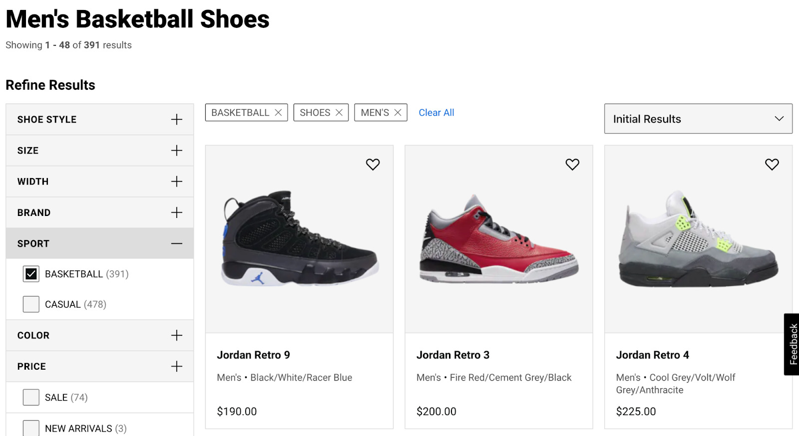 4 ecommerce category page