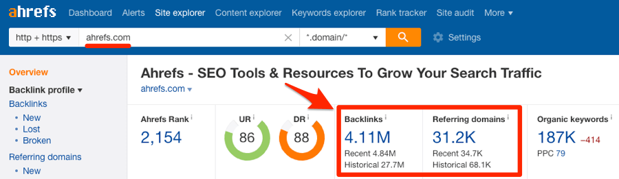 backlinks ahrefs