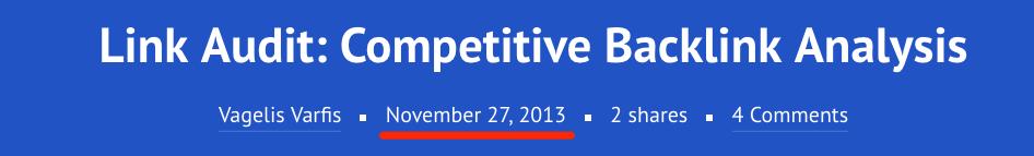link audit competitive backlink analysis