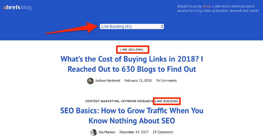 link building category ahrefs blog