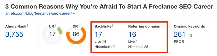 site explorer backlinks check