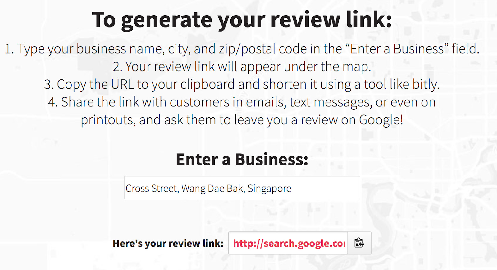 whitespark google business review generator