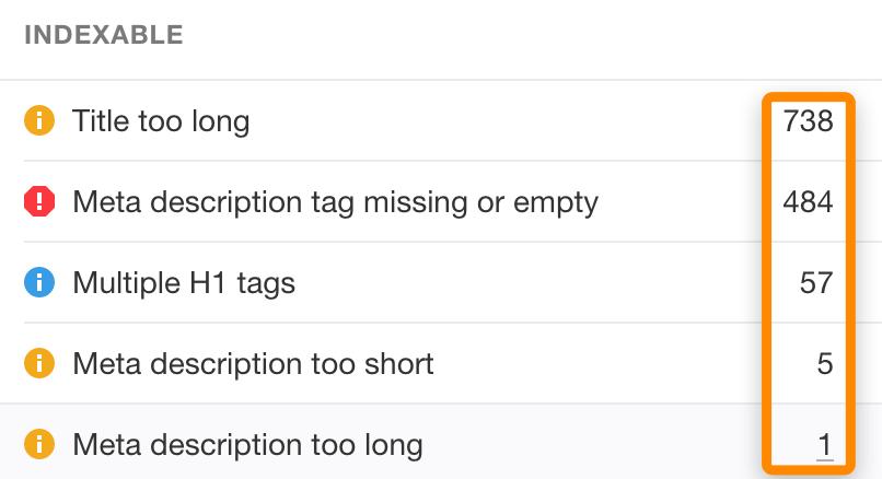 11 site audit title meta description errors