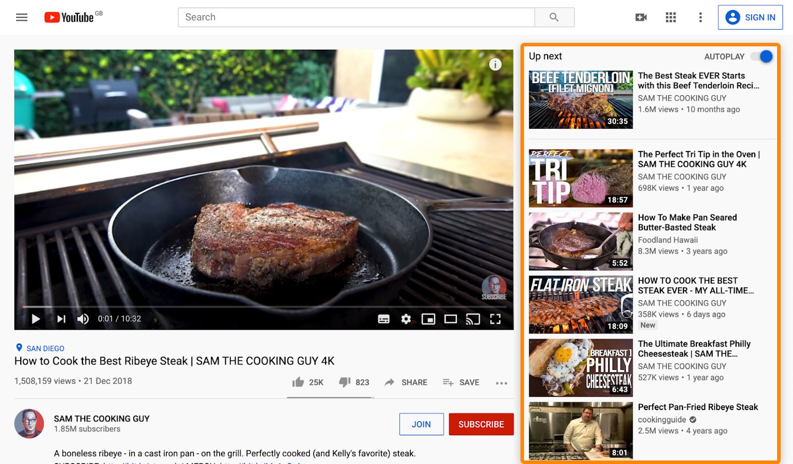 2 youtube steak recipes