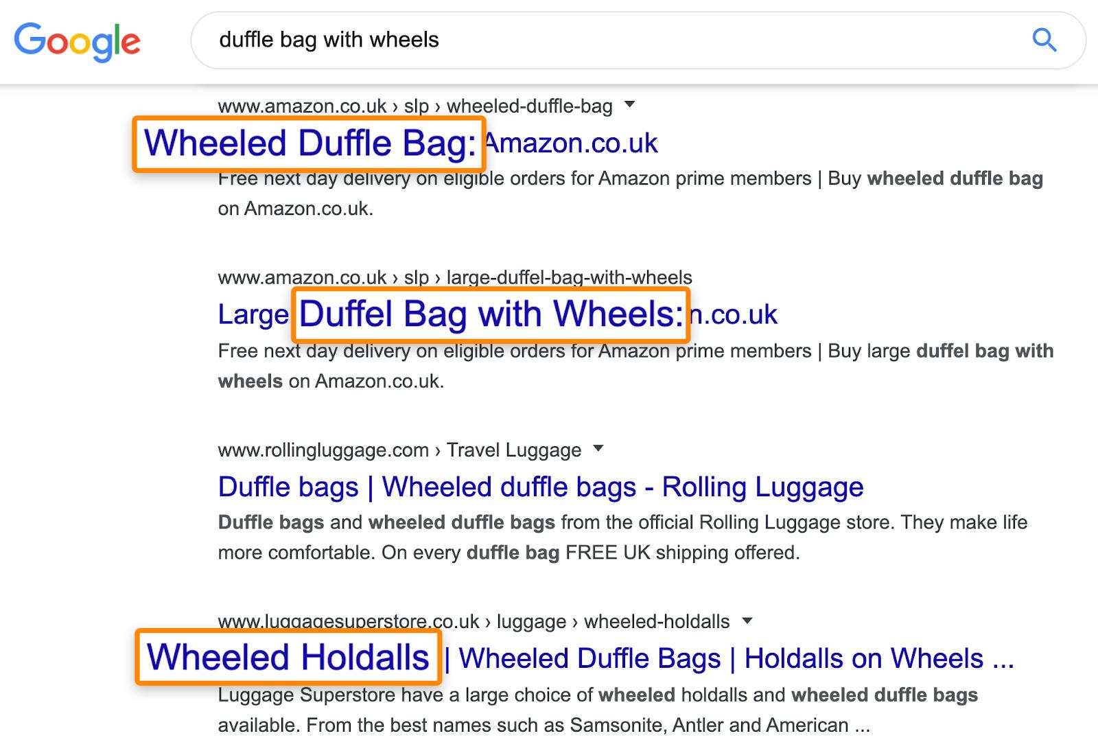5 wheeled duffel bags